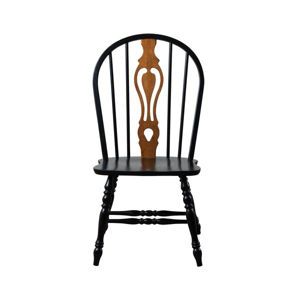 Gonzales Keyhole Back Solid Wood Dining Chair (Set of 2) by Rosalind Wheeler Rosalind Wheeler