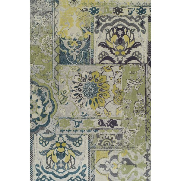 Grand Tour Floral Olive/Blue Area Rug by Dalyn Rug Co.