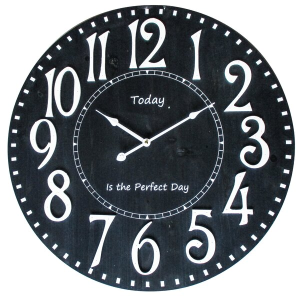 Oversized Perri Perfect Day I 23.6 Wall Clock by Winston Porter