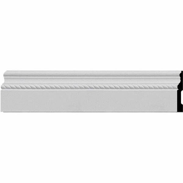 Oslo Rope 4 1/2H x 96W x 5/8D Baseboard Molding by Ekena Millwork