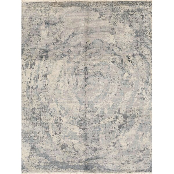 Hand Knotted Wool Gray/Blue