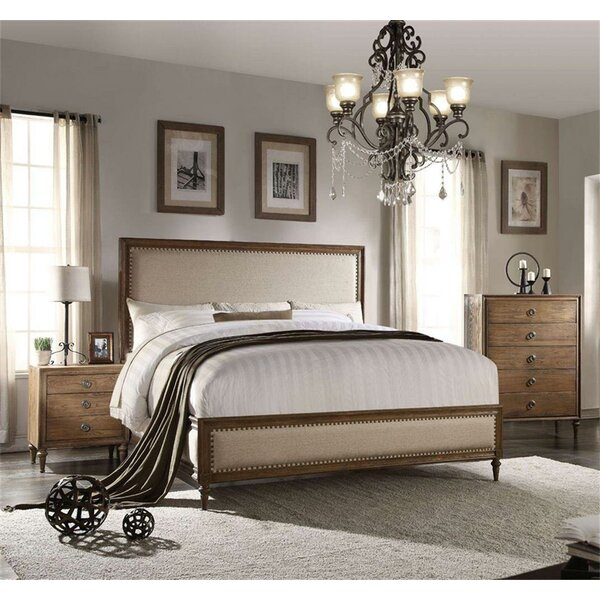 Lutton Upholstered Standard Bed by Canora Grey