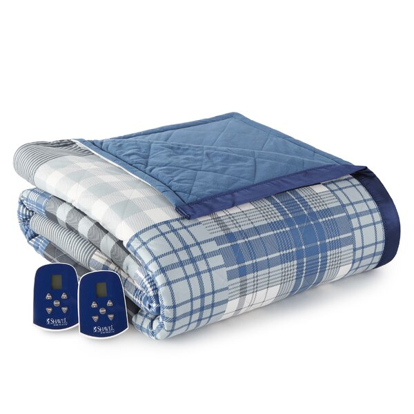 Karn Plaid Electric Heated Blanket by Darby Home Co