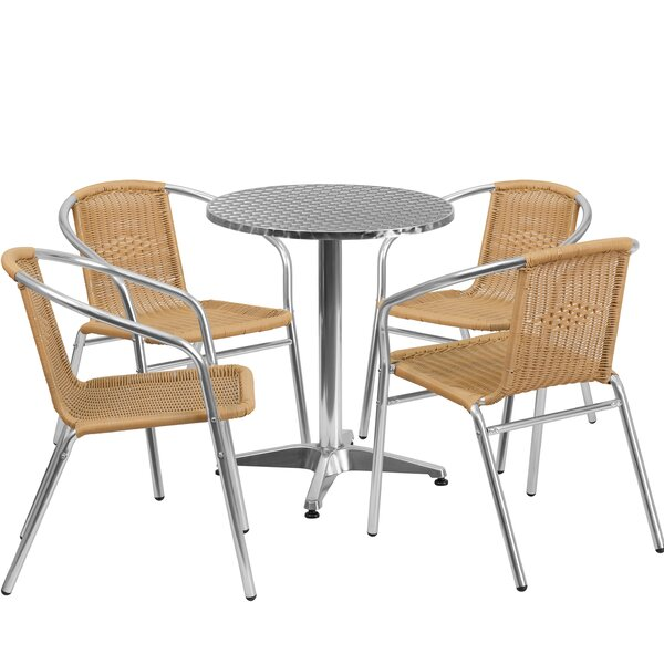 Dashrath 5 Piece Dining Set by Red Barrel Studio