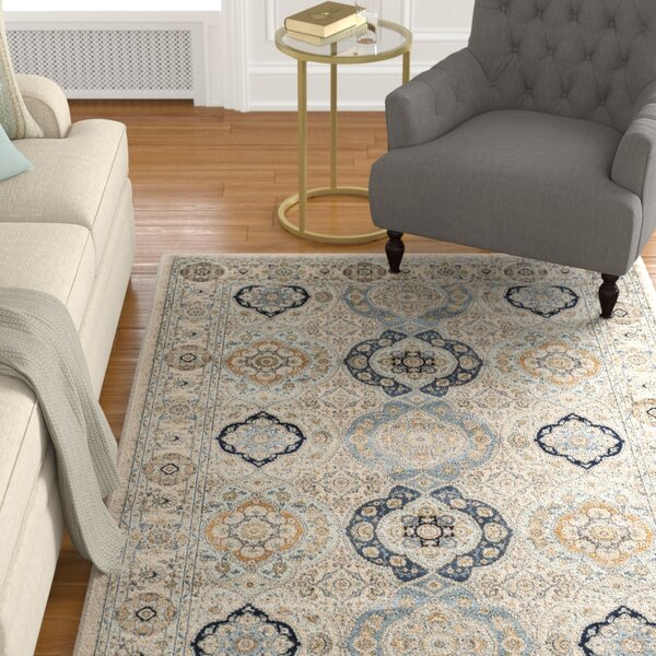 Baddesley Ivory/Ivory Area Rug by Astoria Grand