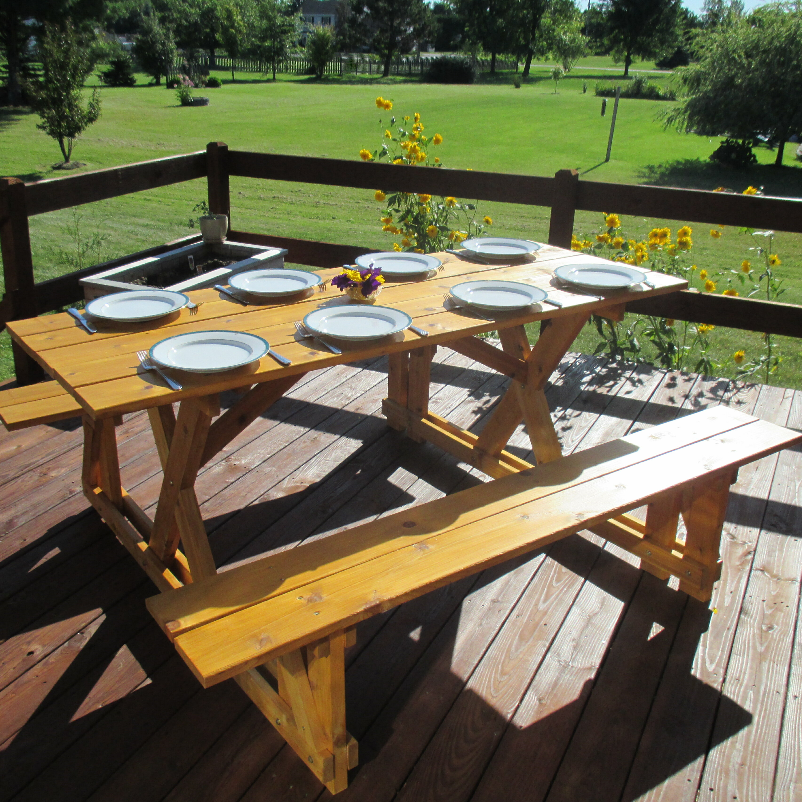 Surprising Macdonald Solid Wood Picnic Table Gamerscity Chair Design For Home Gamerscityorg