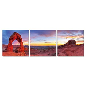 Declicate Arch Wall Mounted Triptych 3 Piece Photographic Print Set by Ebern Designs
