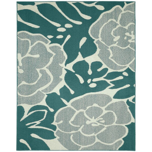 Valencia Teal/Ivory Area Rug by Garland Rug