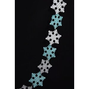 Christmas Holiday Snowflake Garland Banner