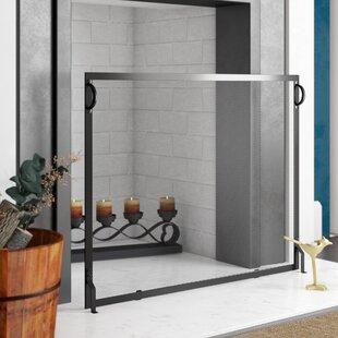 Simmons Single Panel Iron Fireplace Screen ByBirch Lane™
