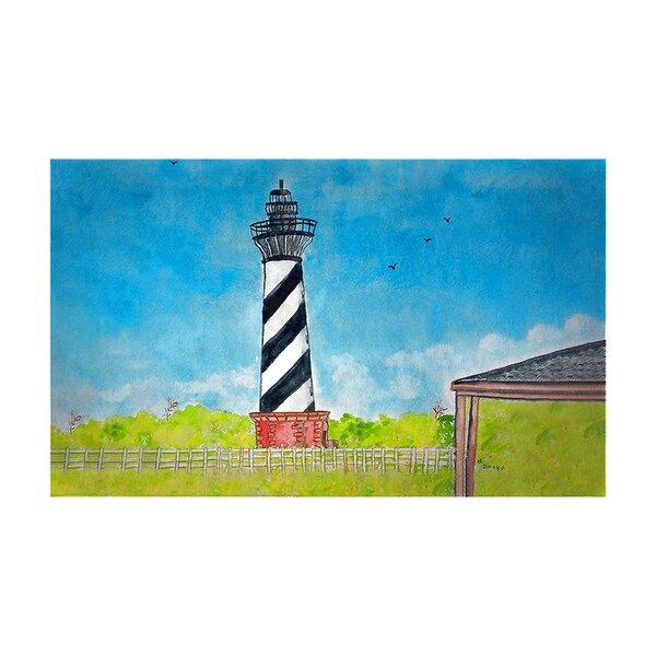 Lolotoe Hatteras Lighthouse 30 x 50 Non-Slip Indoor Outdoor Door Mat
