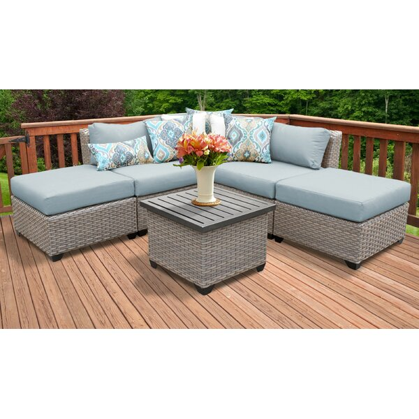 Merlyn 6 Piece Sectional Seating Group with Cushions by Sol 72 Outdoor