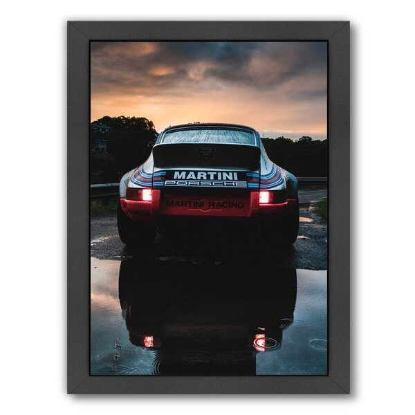 Martini Porsche Framed Photographic Print by East Urban Home