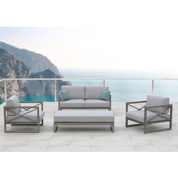 Galia 4 Piece Sofa Set with Cushions by Ove Decors