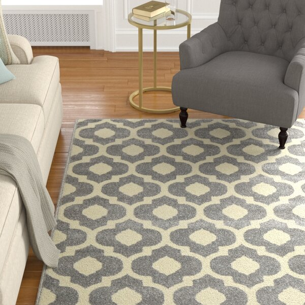 Oak Knoll Ivory/Light Grey Area Rug by Alcott Hill
