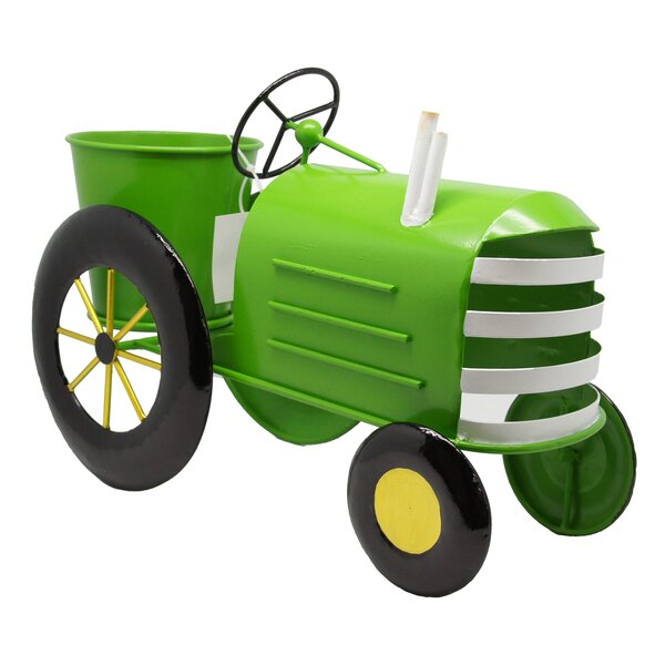 Metal Tractor Planter by Alpine