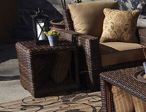 Montecito Wicker Side Table by Sunset West