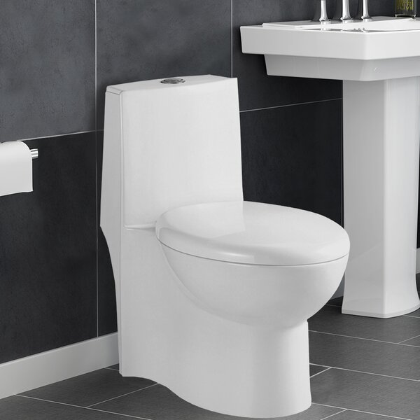 Colorado 1.28 GPF Elongated One-Piece Toilet by Aqualife Corp