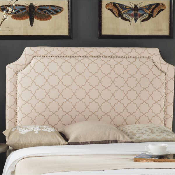 Millington Upholstered Panel Headboard Pale Pink / Beige by Three Posts