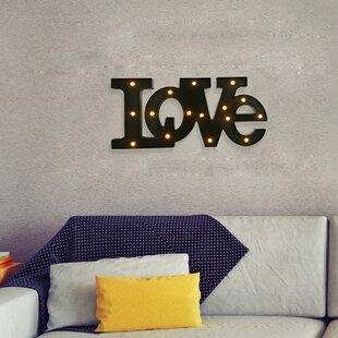 handmade led letter wall dcor
