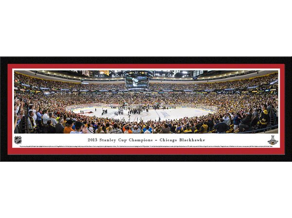 NHL 2013 Stanley Cup Champions - Chicago Blackhawks by Christopher Gjevre Framed Photographic Print by Blakeway Worldwide Panoramas, Inc