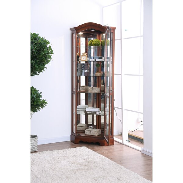 Stamp Curio Cabinet by Astoria Grand