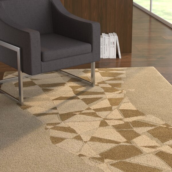 Millwood Hand Tufted Wool Brown/Beige Area Rug by Latitude Run