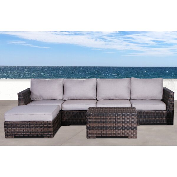Letona Resort 3 Piece Sectional Seating Group with Cushions by Sol 72 Outdoor