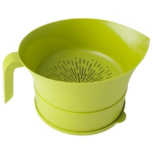 Red Best Gift Easy Greasy Strain and Save Kitchen Colander Color