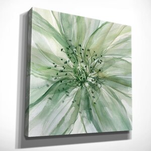 'Macro Sage Flower I' Oil Painting Print on Wrapped Canvas by Winston Porter