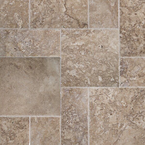 16 x 24'' Travertine Field Tile in Brown/Gray by MSI