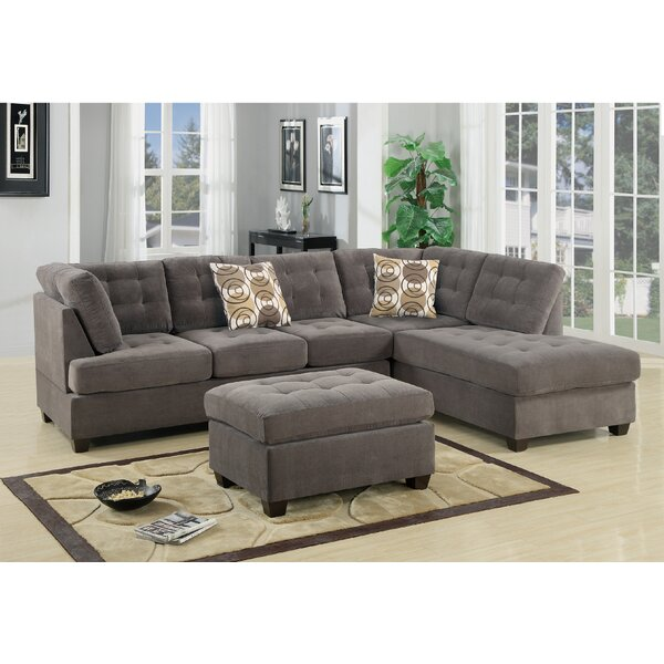 Shop Our Seasonal Collections For Tomita Reversible Modular Sectional with Ottoman Can't Miss Bargains on