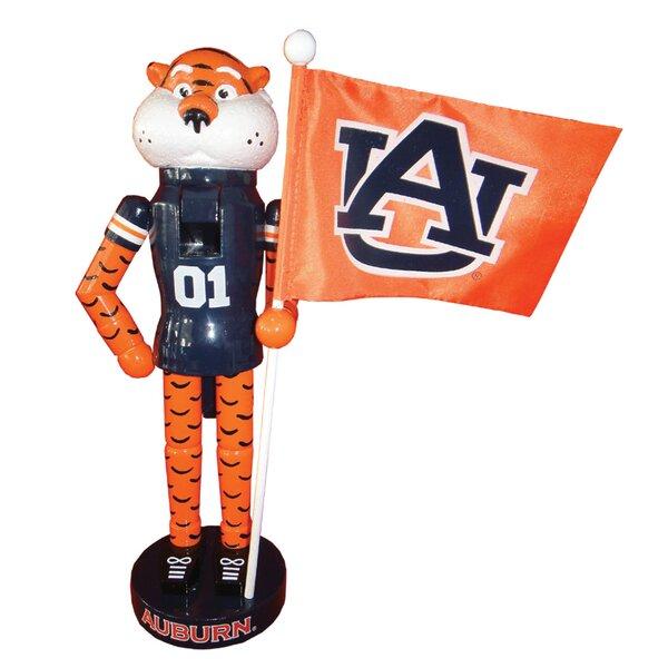 NCAA Auburn Mascot Flag Nutcracker by Santa's Workshop