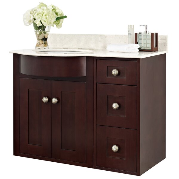 Kester Transitional 36 Multi-layer Stain Bathroom Vanity by Darby Home Co