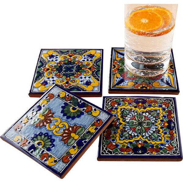Moroccan Midnight Hand Painted Tile Coasters (Set of 4) by Native Trails, Inc.