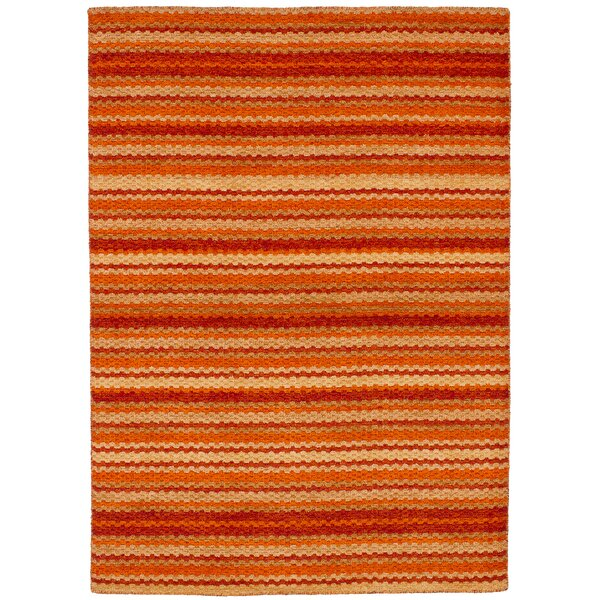 One-of-a-Kind Groom Hand-Knotted Wool Orange/Red Area Rug by Isabelline