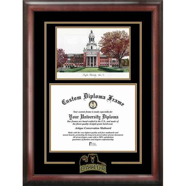 NCAA Baylor University Spirit Graduate Diploma Picture Frame by Campus Images