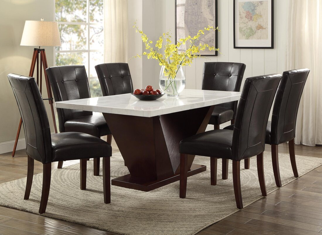 Elegant Forbes Marble Dining Table