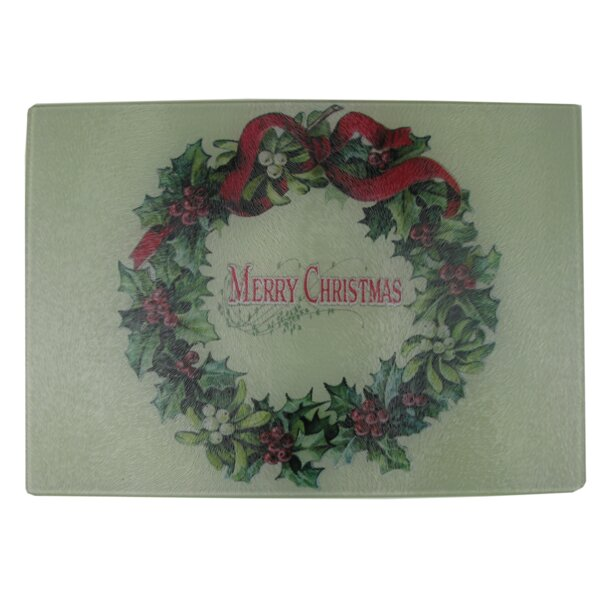 Dubreuil Merry Christmas Wreath Cheese Board by The Holiday Aisle