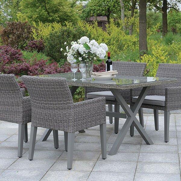 Mclaughlin Aluminum Dining Table by Gracie Oaks