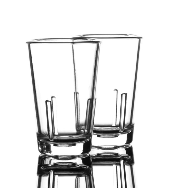 Carrasquillo 2 oz. Plastic Shot Glass (Set of 2) by Ebern Designs