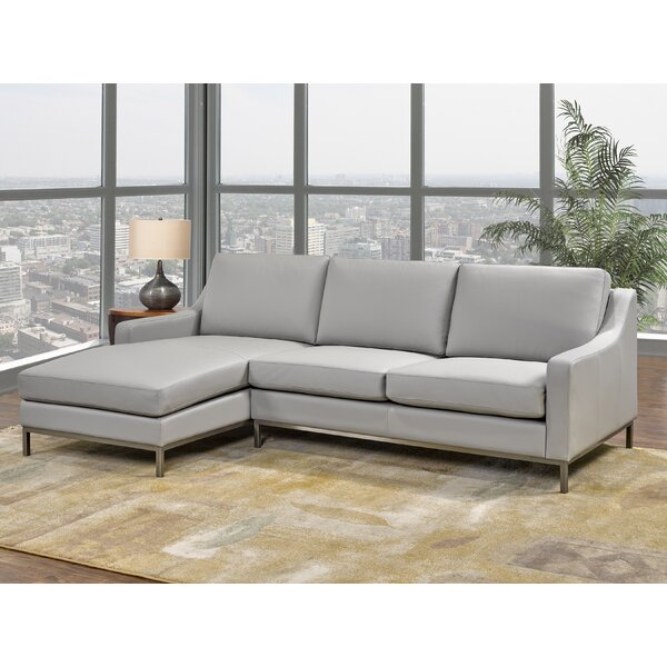 Top Quality Kase Leather Sectional by Rosdorf Park by Rosdorf Park