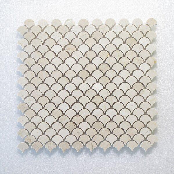 Lanterna Wall 12 x 12 Glass Mosaic Tile in White by Seven Seas