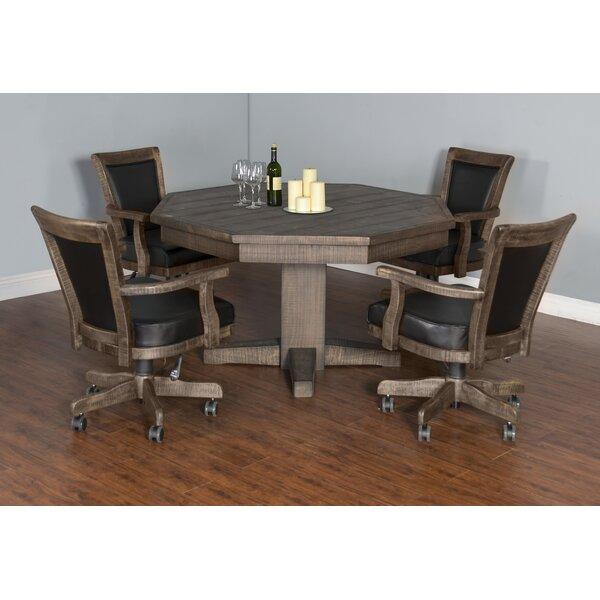 Amesite Solid Wood Dining Table By Loon Peak Wonderful