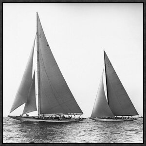 'Sailboats in the America's Cup, 1934' by Edwin Levick Framed Photographic Print by Global Gallery
