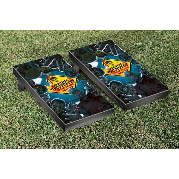 Zombie Outbreak Themed Cornhole Game Set by Victory Tailgate