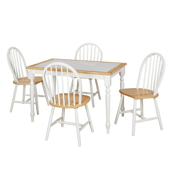 Trinidad 5 Piece Dining Set by August Grove