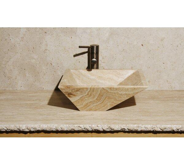 Irregular Stone Rectangular Vessel Bathroom Sink by Allstone Group
