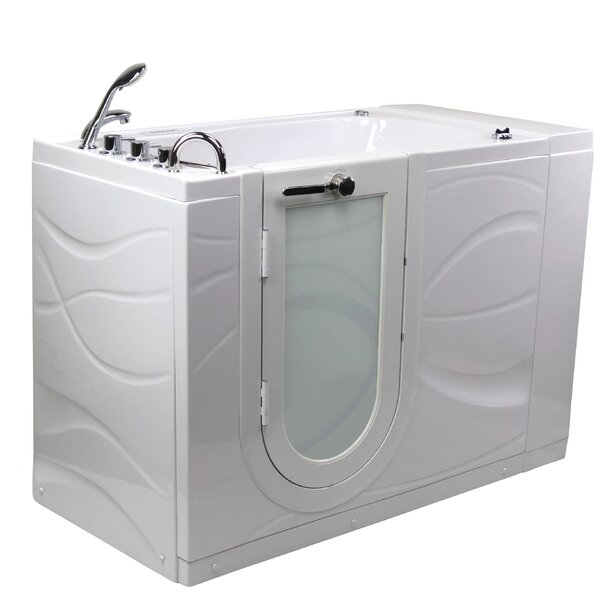 Chi Acrylic 52 x 32 Walk-In Whirlpool Bathtub by Ella Walk In Baths