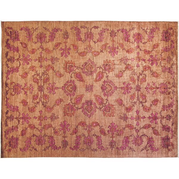 One-of-a-Kind Oushak Hand-Knotted Pink Area Rug by Darya Rugs